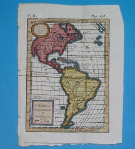 1797 RARE ORIGINAL MAP UNITED STATES CANADA MEXICO CUBA AMERICA FLORIDA TEXAS