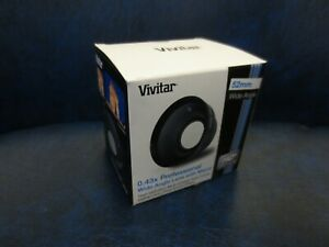 Vivitar 52mm 0.43x Professional Auxiliary Wide Angle Lens with Macro #VIV-52W