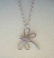 "Pretty Dragonfly Pendant 21"" Chain Necklace in Gift Bag"