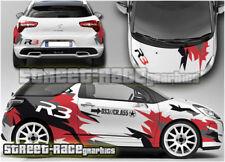 CITROEN DS3 Rally 013 R3 Racing completo de gráficos Pegatinas Calcomanías