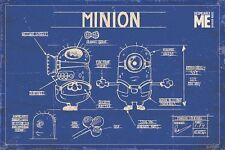 Poster DESPICABLE ME / ICH EINFACH UNVERBESSERLICH  Plan Minion Blue Print 58410