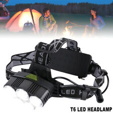 6 Modes 20000LM 5x XM-L CREE T6 LED Rechargeable Head Torch Headlamp Flashlight