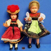 2 ALTE PUPPEN BABY DOLL VINTAGE CELBA + E.S. PUPPENHAUS TRACHTEN