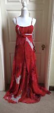 Patent Red floral print maxi Dress, Size 12