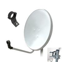 Satellite Dish 80cm For SKY PLUS Freesat Hotbird Zone 2 Arli White + Twin LNB