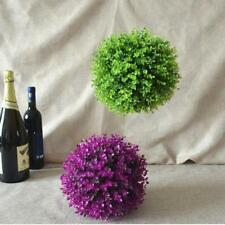Artificial Topiary Tree & Ball Flowers Buxus Boxwood Plants in Pot Garden CF