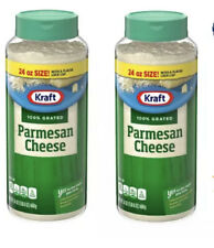 2 Pack - New Kraft 100 % Grated Parmesan Cheese 24 Oz Ea Cheese Shaker