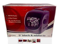 GPX Portable TV Black/White Television NIB AM/FM Radio TV515 AC DC 3 Way Power