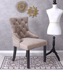 Dining Chair Chesterfield Chair with Ring Samtstuhl Thumper Kitchen Chair Button
