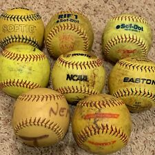 """Lot of 8 11"""" SOFT Softouch Safety Softballs  FREE SHIPPING"""
