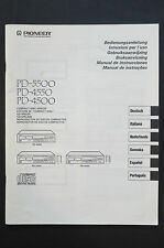 pioneer PD-5500/4550/4500 orig. mode d'em Ploi / User Manual état parfait