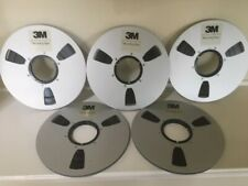 Five .Used  .reel to reel tapes  10.5 - aluminium reel....         tape on reels