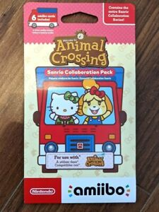 Animal Crossing Sanrio Collaboration Pack Amiibo Card Brand New Factory Sealed