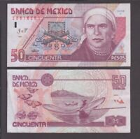 Mexico banknote P. 107p 50 Pesos 10.5.1996 VF or Better  We Combine