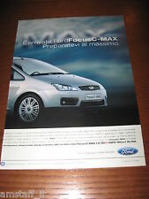 *AM10= FORD FOCUS C-MAX =PUBBLICITA'=ADVERTISING=WERBUNG=COUPURE=