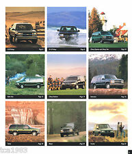 1998 CHEVY TRUCKS Brochure/Catalog:C/K,TAHOE,S10,BLAZER