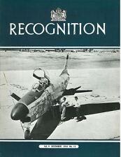 RECOGNITION JOURNAL DEC 54 GANNET SAAB-32 F-89 IL-28 YF-86K RN C-CLASS DESTROYER