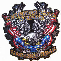 EMBROIDERED LEGEND LIVES PATRIOTIC EAGLE PATCH 5653 new american biker patches