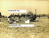 Coney Island Photo Beach Scene w/ Wonder Wheel/Cyclone Background 1960's