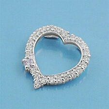Heart Pendant 925 Sterling Silver With Cubic Zirconia