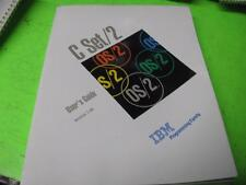 IBM OS/2 C SET/2 USER'S GUIDE VERSION 1.00