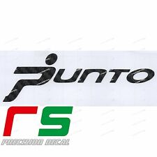 Fiat Punto ADESIVI sticker decal carbon look 4D