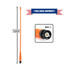 Orange Dual Band Two Way Radio Whip Antenna BNC Male for Icom V82 Kenwood TK300