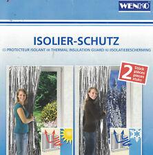 WENKO Isolier Schutz 2er Set Vorhang Kälte Wärme Schutz Isoliervorhang