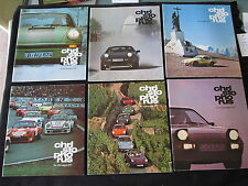 1977 Porsche Christophorus 6 Magazine Set 911SC 928 924 911 930 Turbo 3.3 Racing
