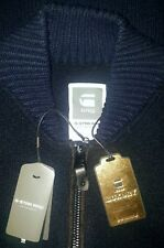 G-Star Raw Luxury Koonded Knit Lambs Wool Jacquard Full Zip Sweater Jacket Large