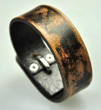 Men's Cool Vintage Single Band Surfer Genuine Leather Bracelet Wristband Cuff