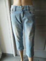 Pantacourt en jeans femme T 38