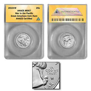 2019-W War in the Pacific- Guam Quarter MS67 GREAT AMERICAN COIN HUNT