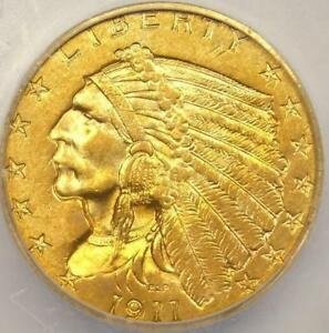 1911 -  2.5 $ INDIAN HEAD QUARTER EAGLE ICG GRADED MS 63