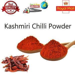 KASHMIRI CHILLI POWDER MILD DEGGI MIRCH PREMIUM QUALITY RED GROUND SPICE FREE PP