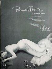 1949 women's Colura nylon tricot pleated half slip lingerie vintage fashion ad