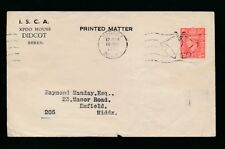 GB KG6 1945 PRINTED MATTER ENV. ISCA DIDCOT 1d VICTORY MACHINE CANCEL 10th MAY