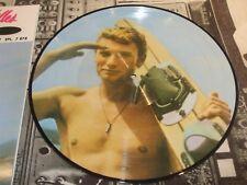 """picture disque  'planche de surf"""" maxi 45T  Johnny Hallyday"""