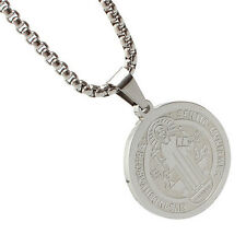 Stainless Steel Style Patron Staint St.Benedict Medal Necklace S size CAD