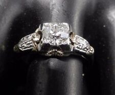 ANTIQUE  ENGAGEMENT RING GENUINE OLD MINE CUT
