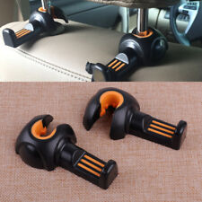 Black & Orange Car Interior Back Seat Headrest Hook Bags Clothes Holder Hangers