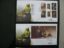 NETHERLANDS ANTILLES, 2X cover FDC 2008, paintings Vermeer ao girl pearl earring