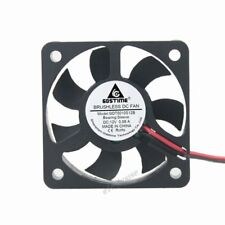 Gdt DC 12V 2pin 0.08A 50mm 50 x 50 x 10mm Mini DC Brushless Computer Cooling Fan