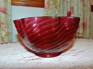 """Antique Cranberry Oil Lamp Shade 4"""" Fitter"""
