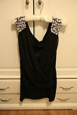 New Gorgeous Little Black Dress Bling Detail Party Wedding Special Ocassion