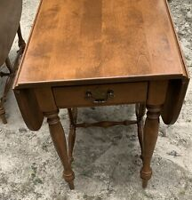 Ethan Allen Heirloom Maple Drop Leaf End Table 1960's