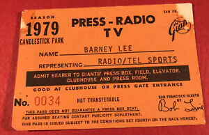 1979 Giants Pass Ticket Willie McCovey Last HR #520 in SF/15 YR/V.Blue 150 Win
