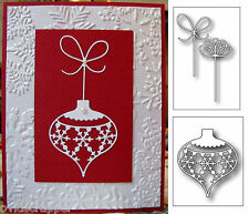 Christmas die BUNDLE Snowflake Ornament & Crisp Bows Memory Box metal dies