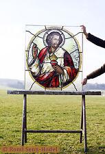 Jesus / Religious / historische Glasmalerei / Bleiverglasung / um 1860