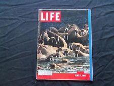 1960 JUNE 27 LIFE MAGAZINE - ALASKAN WALRUS - L 1212
